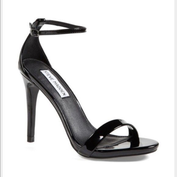 4a4a5870ce Steve Madden Shoes | Stecy Black Patent Leather Heels 75 | Poshmark